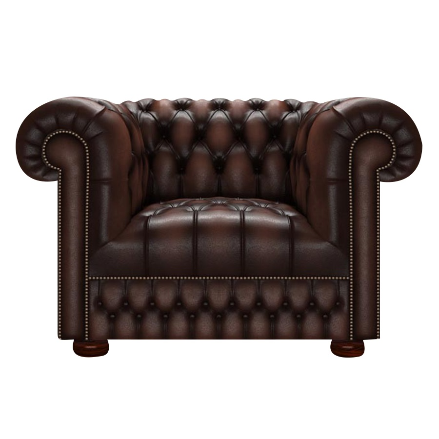 CROMWELL CHESTERFIELD FÅTÖLJ ANTIQUE BROWN