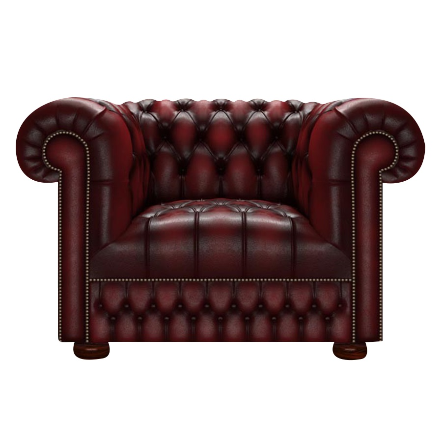 CROMWELL CHESTERFIELD FÅTÖLJ ANTIQUE RED