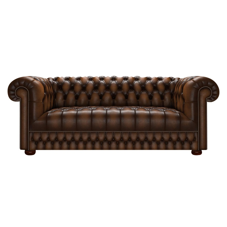 CROMWELL CHESTERFIELD 3-SITS ANTIQUE AUTUMN TAN