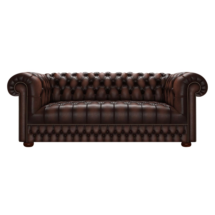 CROMWELL CHESTERFIELD 3-SITS ANTIQUE BROWN