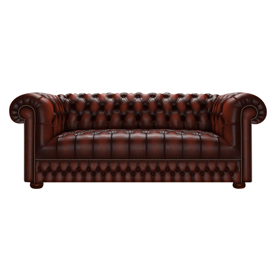 CROMWELL CHESTERFIELD 3-SITS ANTIQUE CHESTNUT