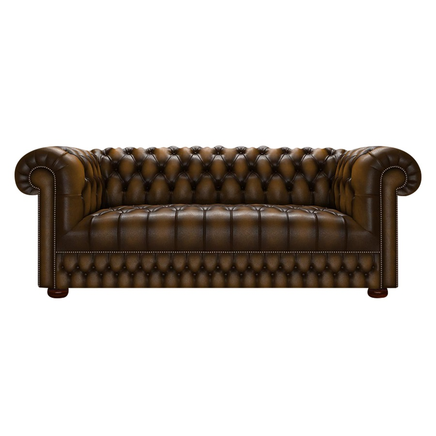 CROMWELL CHESTERFIELD 3-SITS ANTIQUE GOLD