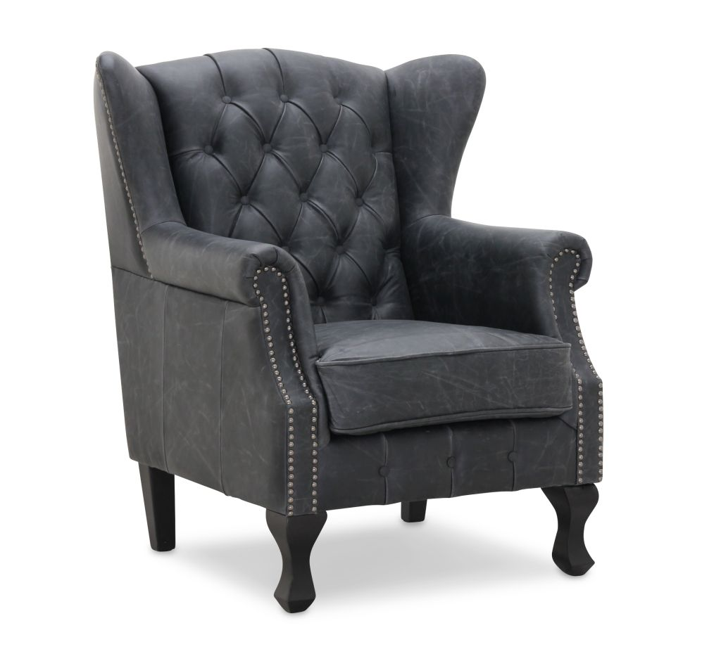 Inverness Vintage wingchair svart