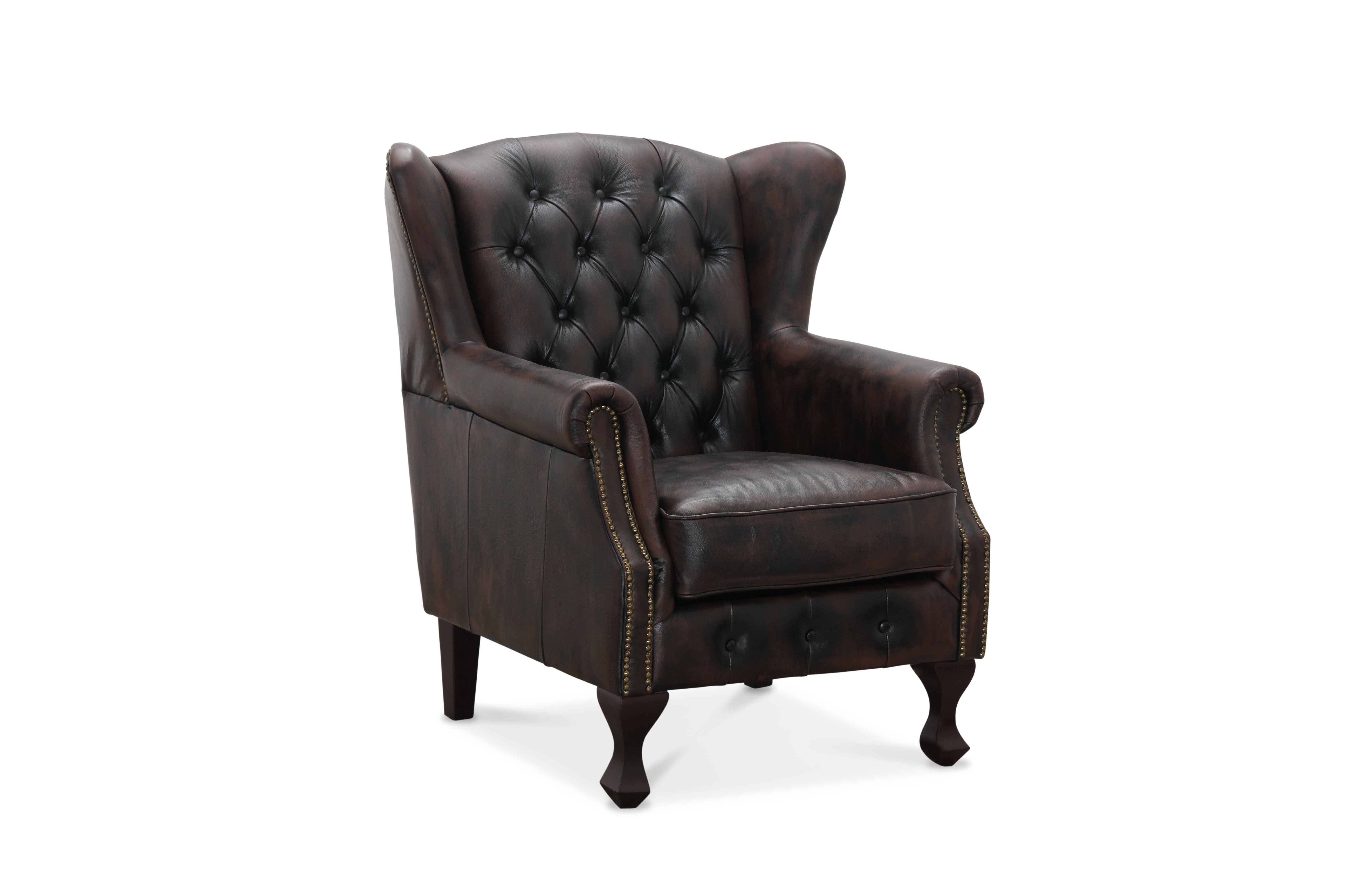 Inverness wingchair brun