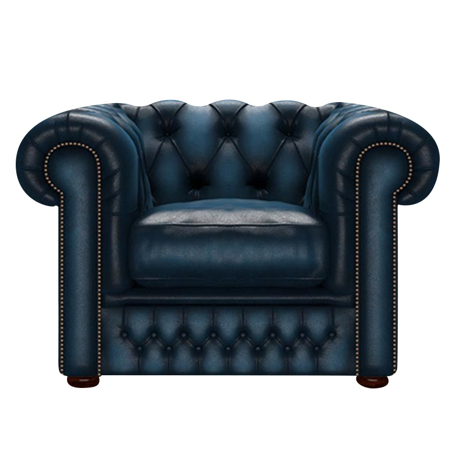 SHACKLETON CHESTERFIELD FÅTÖLJ ANTIQUE BLUE