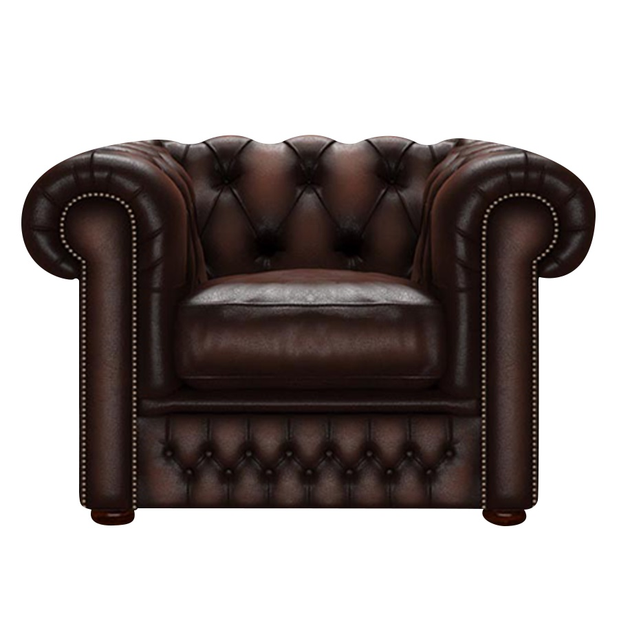 SHACKLETON CHESTERFIELD FÅTÖLJ ANTIQUE BROWN