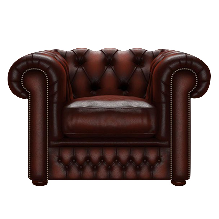 SHACKLETON CHESTERFIELD FÅTÖLJ ANTIQUE CHESTNUT