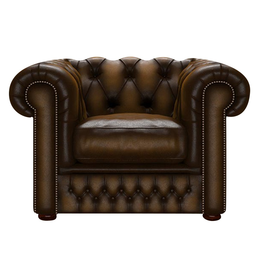 SHACKLETON CHESTERFIELD FÅTÖLJ ANTIQUE GOLD