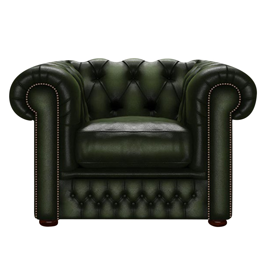 SHACKLETON CHESTERFIELD FÅTÖLJ ANTIQUE GREEN