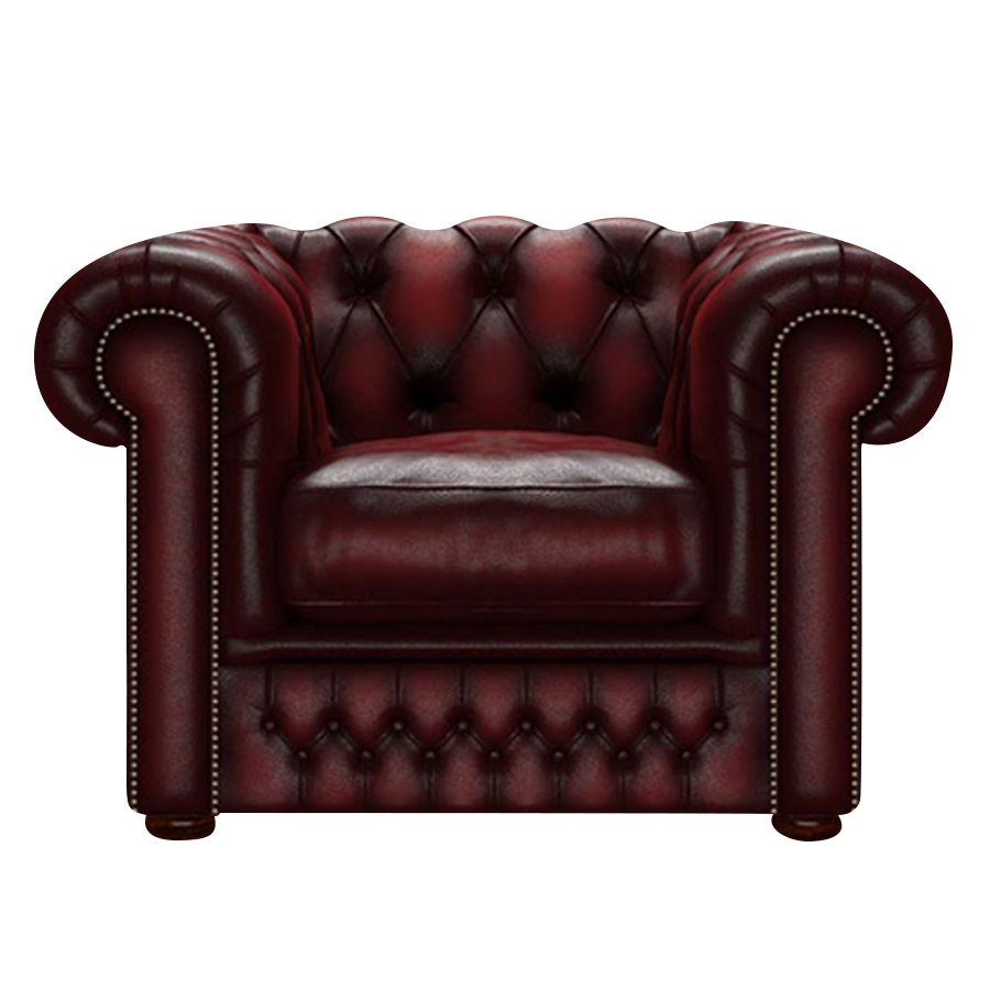SHACKLETON CHESTERFIELD FÅTÖLJ ANTIQUE RED