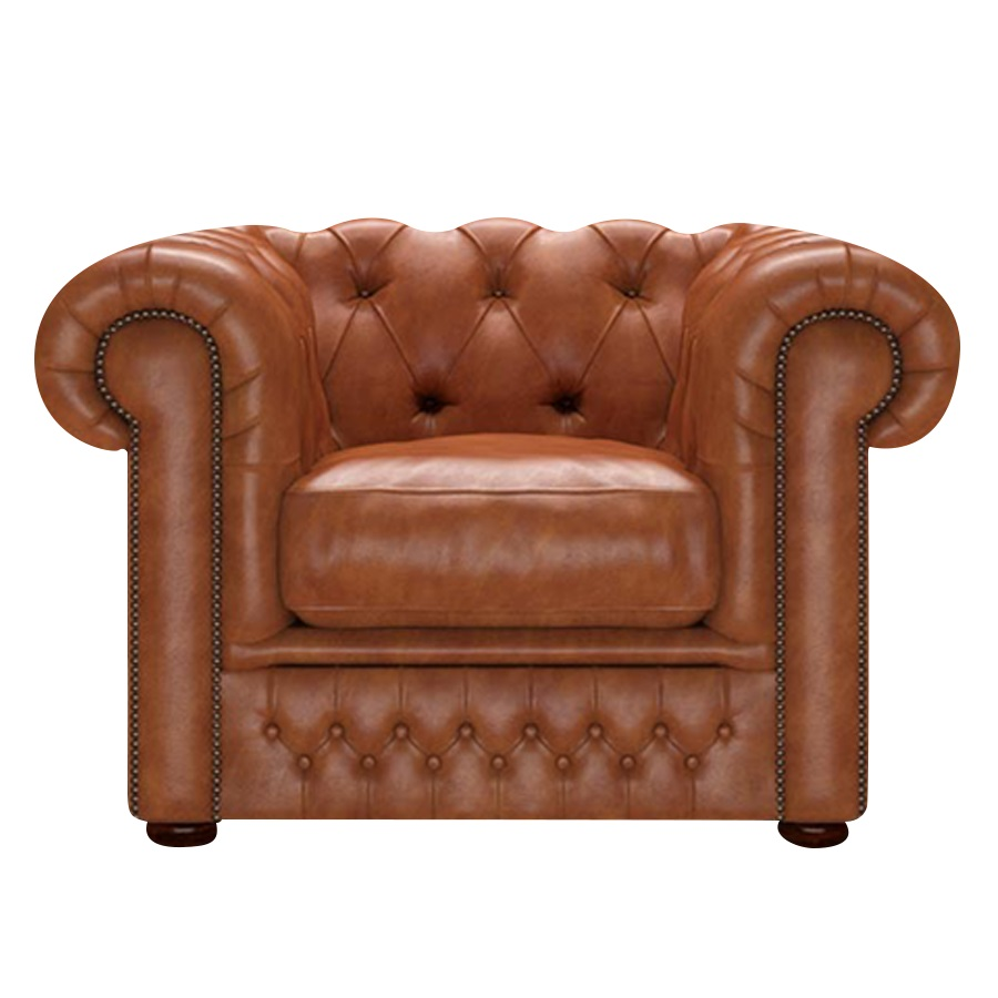 SHACKLETON CHESTERFIELD FÅTÖLJ OLD ENGLISH BRUCIATO