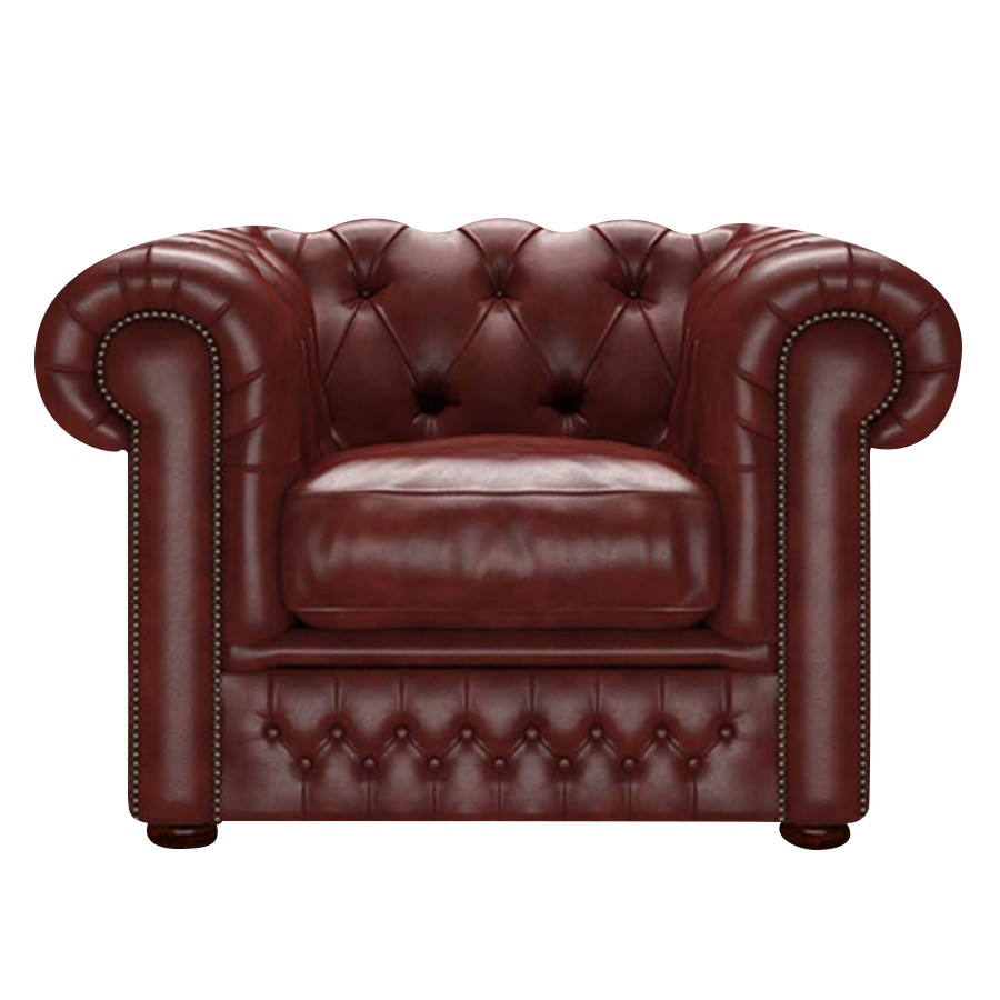 SHACKLETON CHESTERFIELD FÅTÖLJ OLD ENGLISH CHESTNUT
