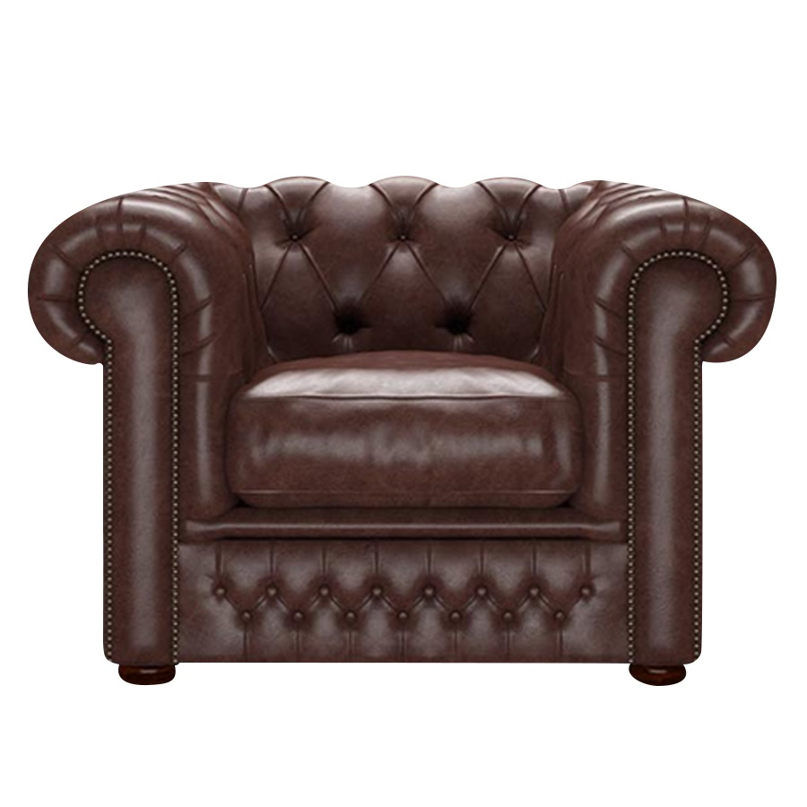 SHACKLETON CHESTERFIELD FÅTÖLJ OLD ENGLISH DARK BROWN