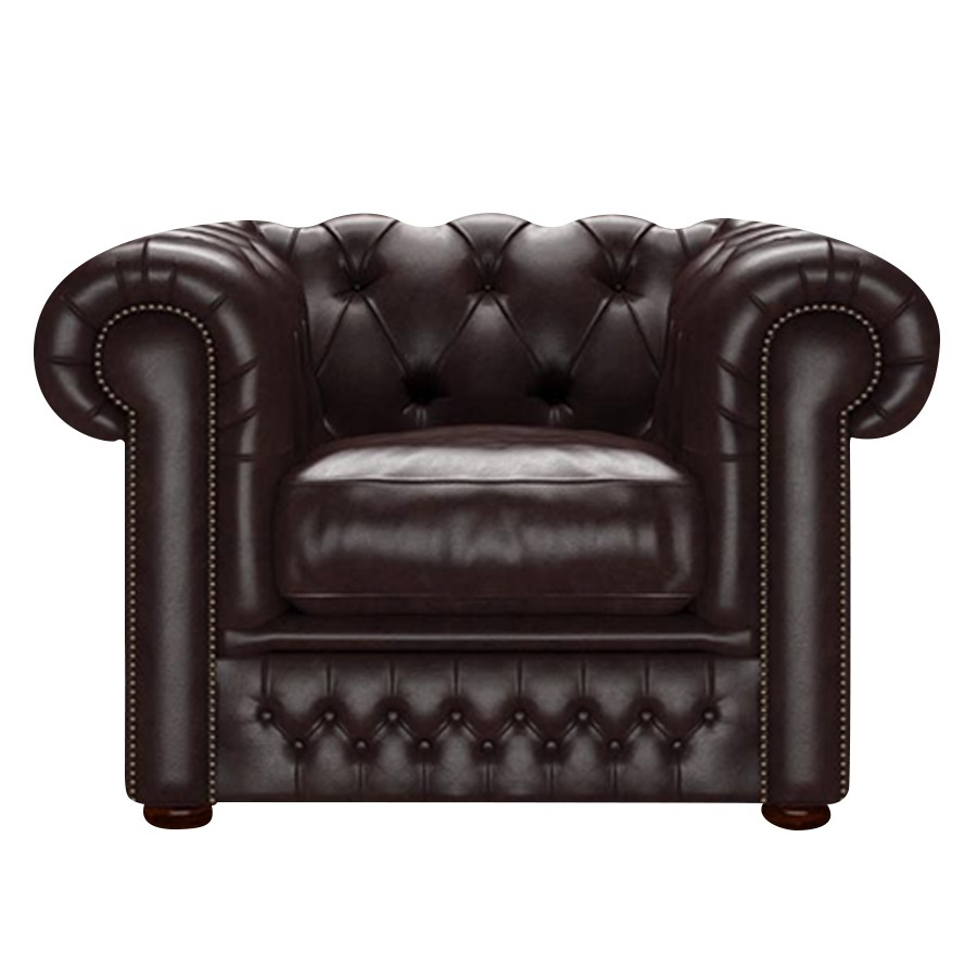 SHACKLETON CHESTERFIELD FÅTÖLJ OLD ENGLISH SMOKE