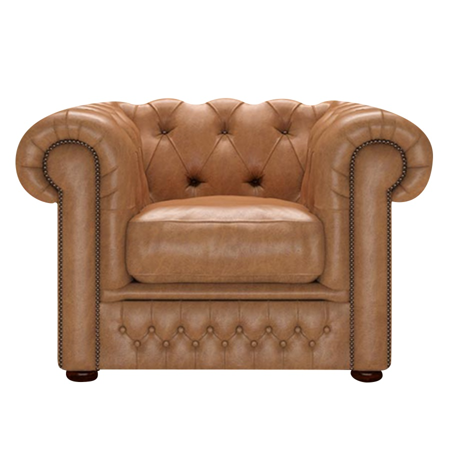 SHACKLETON CHESTERFIELD FÅTÖLJ OLD ENGLISH TAN