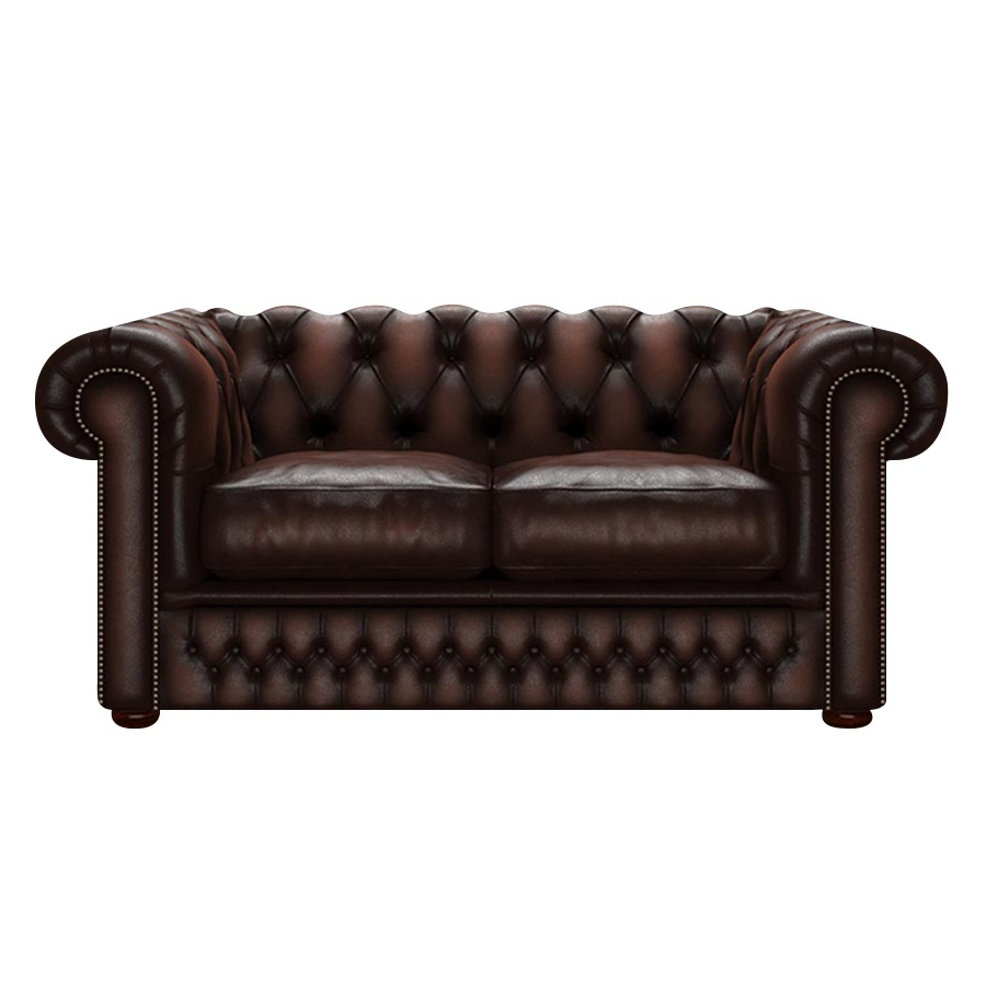 SHACKLETON CHESTERFIELD 2-SITS ANTIQUE BROWN