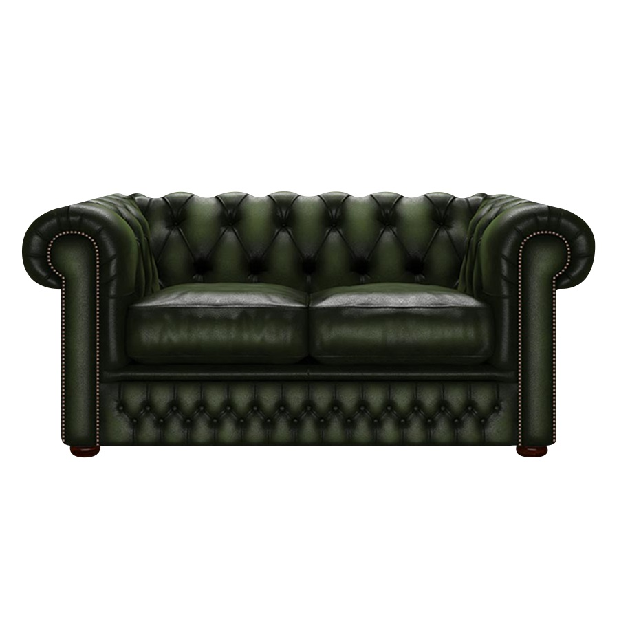 SHACKLETON CHESTERFIELD 2-SITS ANTIQUE GREEN