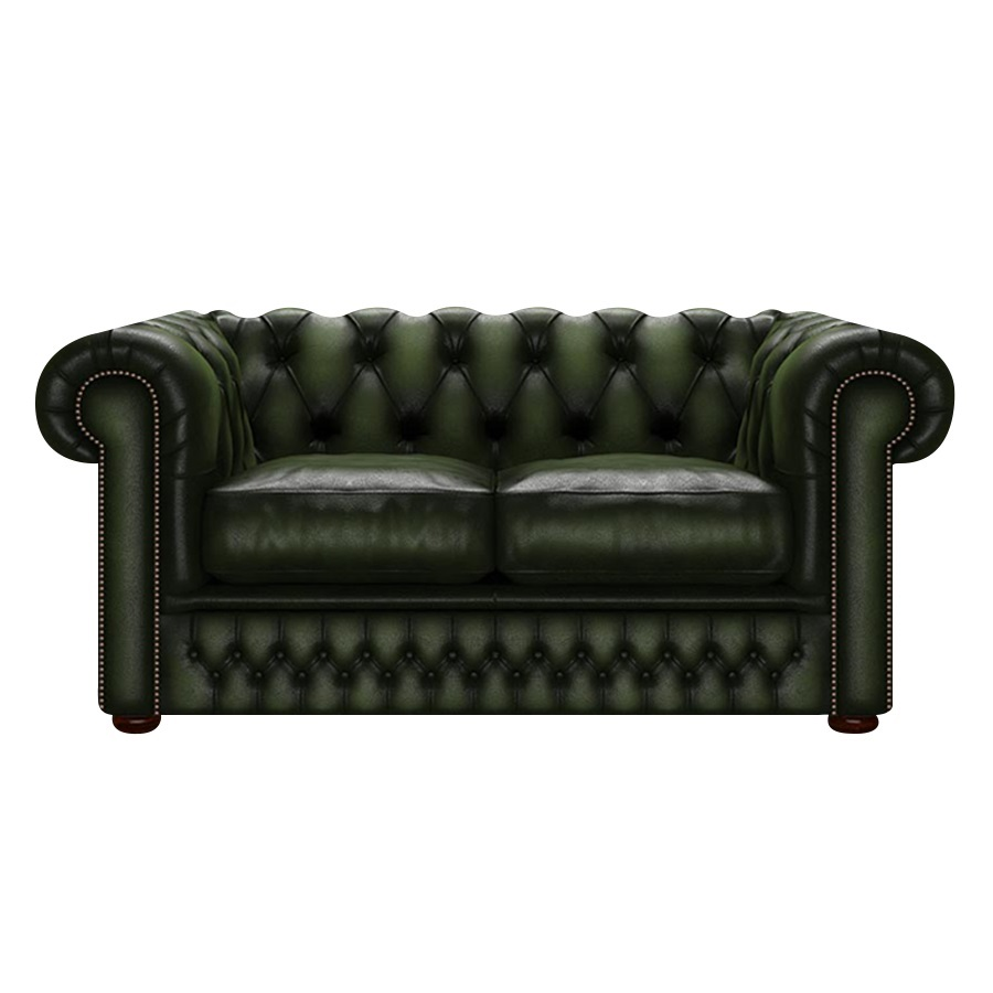SHACKLETON CHESTERFIELD 2-SITS ANTIQUE OLIVE