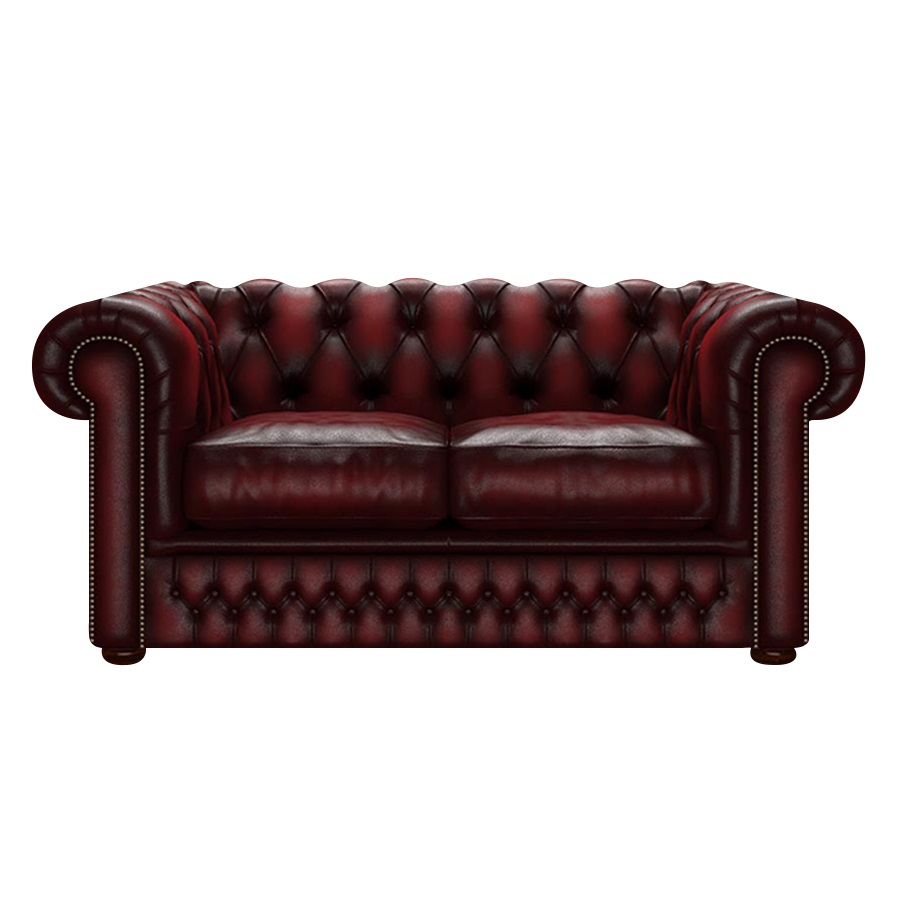 SHACKLETON CHESTERFIELD 2-SITS ANTIQUE RED