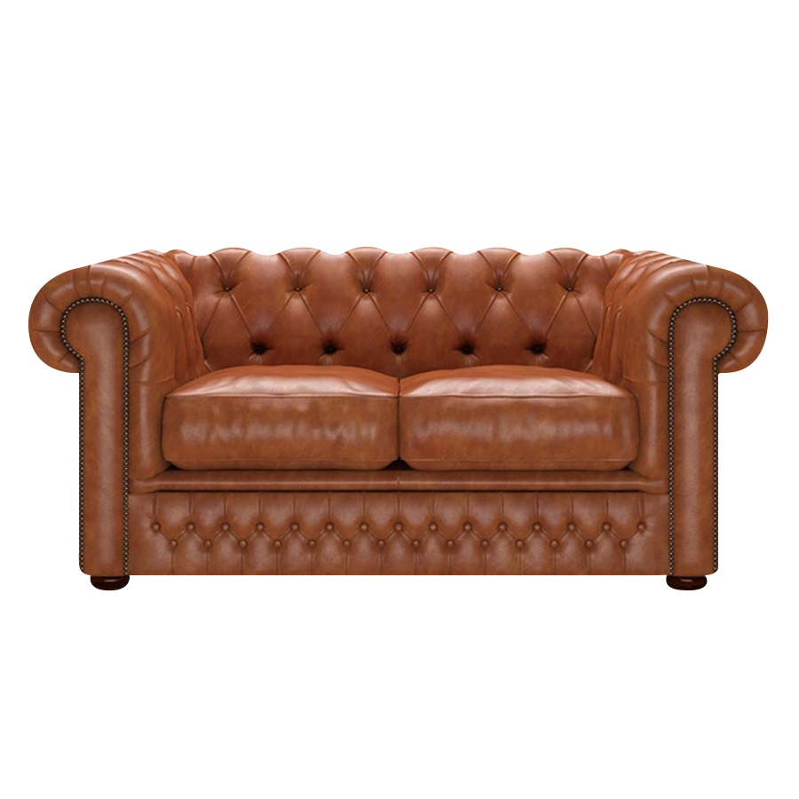 SHACKLETON CHESTERFIELD 2-SITS OLD ENGLISH Bruciato