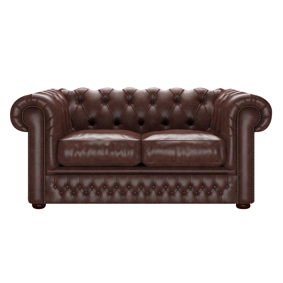 SHACKLETON CHESTERFIELD 2-SITS OLD ENGLISH DARK BROWN