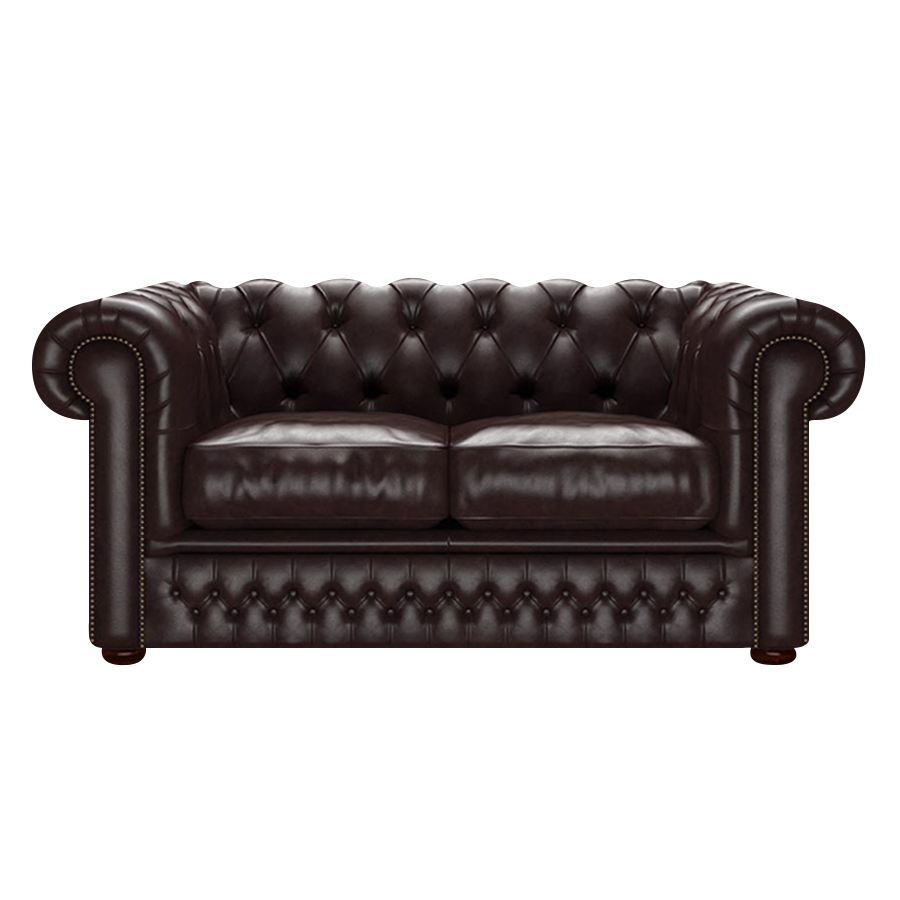 SHACKLETON CHESTERFIELD 2-SITS OLD ENGLISH SMOKE