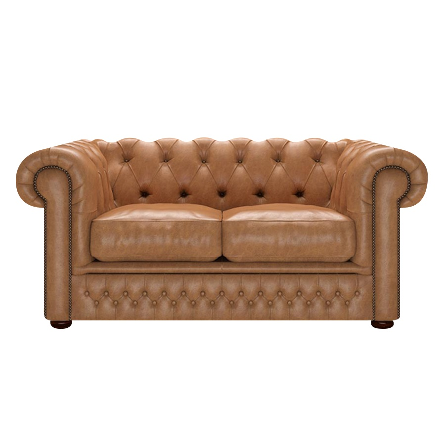 SHACKLETON CHESTERFIELD 2-SITS OLD ENGLISH TAN