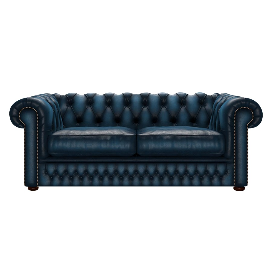 SHACKLETON CHESTERFIELD 3-SITS ANTIQUE BLUE