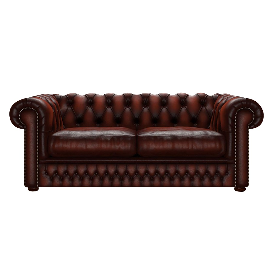 SHACKLETON CHESTERFIELD 3-SITS ANTIQUE CHESTNUT