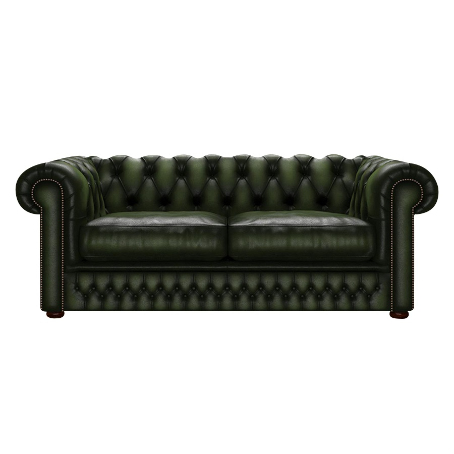 SHACKLETON CHESTERFIELD 3-SITS ANTIQUE GREEN