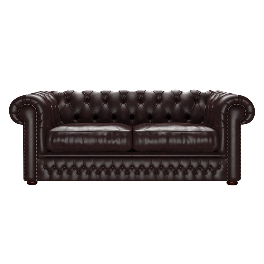 SHACKLETON CHESTERFIELD 3-SITS OLD ENGLISH SMOKE