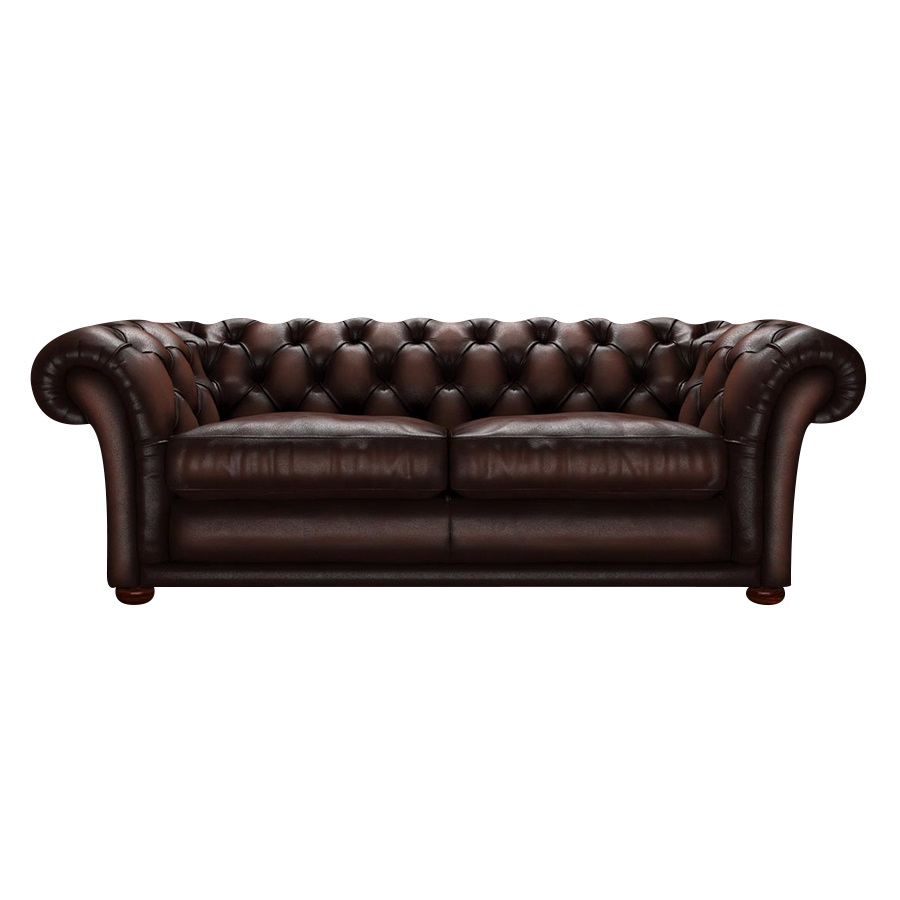 SHAKESPEARE CHESTERFIELD 3-SITS ANTIQUE BROWN