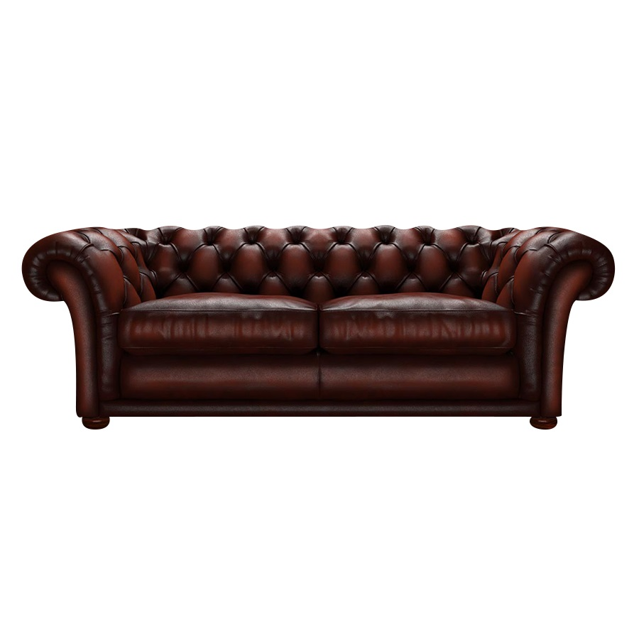 SHAKESPEARE CHESTERFIELD 3-SITS ANTIQUE CHESTNUT