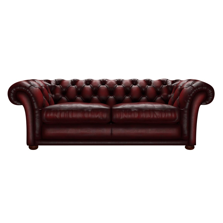 SHAKESPEARE CHESTERFIELD 3-SITS ANTIQUE RED