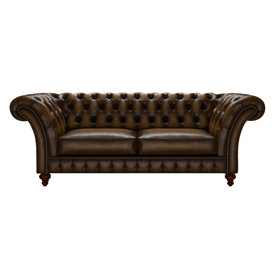 WORDSWORTH CHESTERFIELD 3-SITS ANTIQUE GOLD